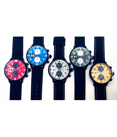 5 racing colors watches