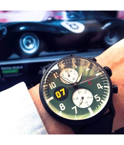 Reloj de piloto de carreras Brooklands