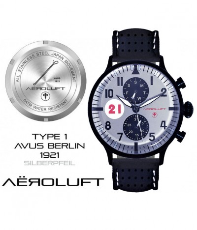 silver arrow racing watch