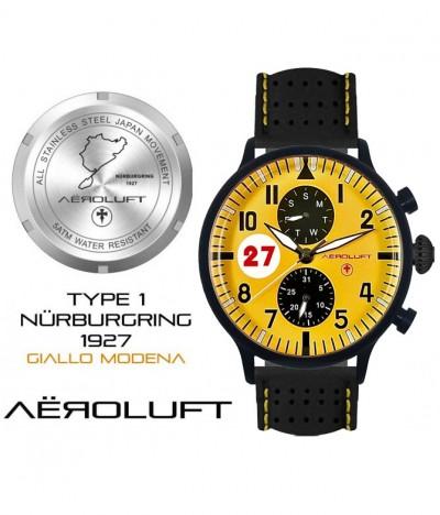 gelbe motorsport uhr