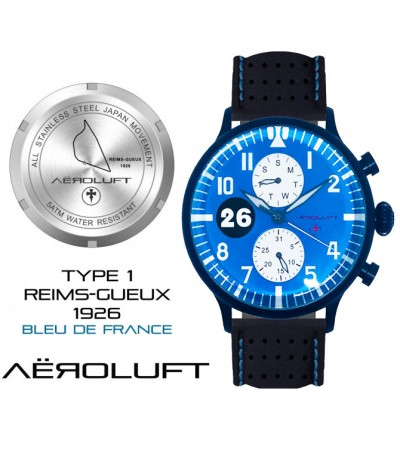 blue racing watch