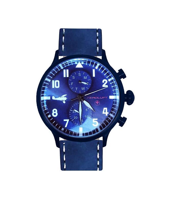 reloj de piloto aviador hombre max immelmann