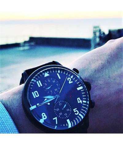 reloj de piloto aviador max immelmann