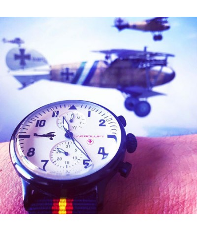 reloj de piloto de avion aleman oswald boelcke