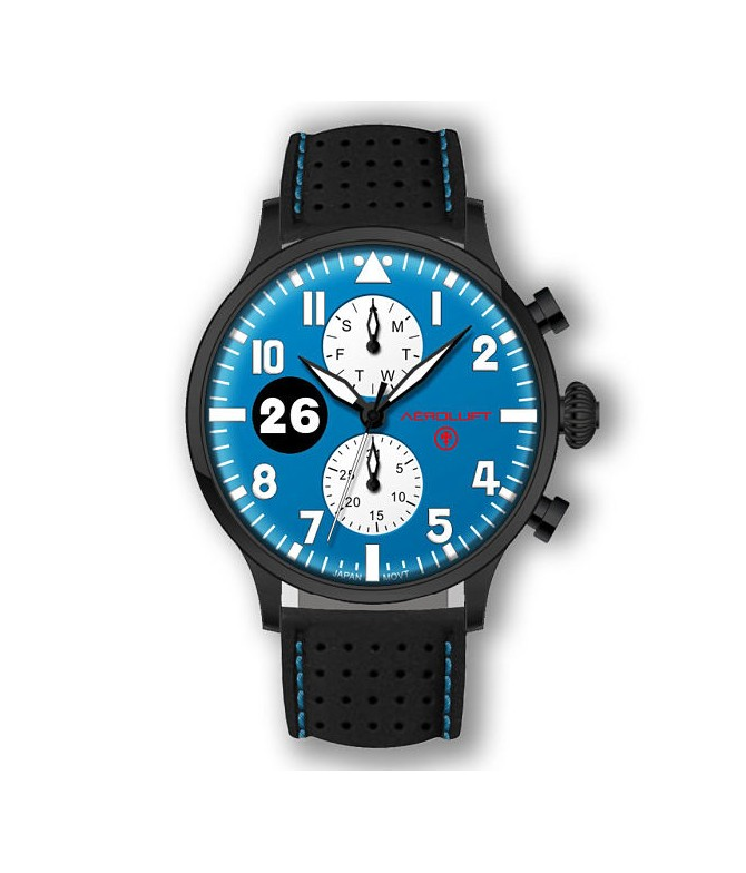 Reloj de piloto de carreras Reims-Gueux
